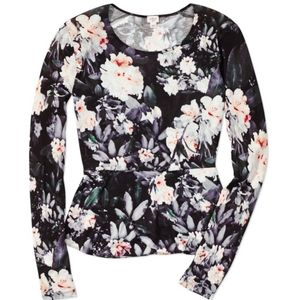 Aritzia Wilfred Floral Long Sleeve Top